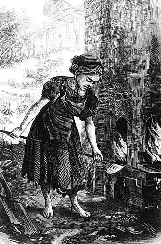 Girl in brickyard 1871