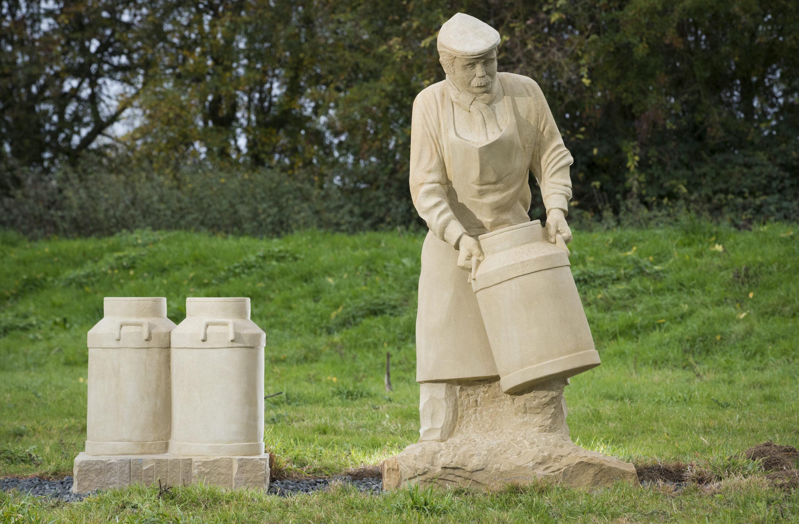 12/10/18  Farmer by Graeme Mitcheson.  The new  sculpture park on the Salt Brook Trail in Hatton, overlooking the NestlÈ factory in Derbyshire.  All Rights Reserved, F Stop Press Ltd. (0)1335 344240 +44 (0)7765 242650  www.fstoppress.com rod@fstoppress.com